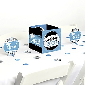 Light Blue Grad - Best is Yet to Come - 2020 Graduation Party Centerpiece & Table Decoration Kit