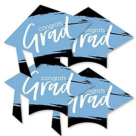 Light Blue Grad - Best is Yet to Come - Grad Cap Decorations DIY Light Blue Graduation Party Essentials - Set of 20