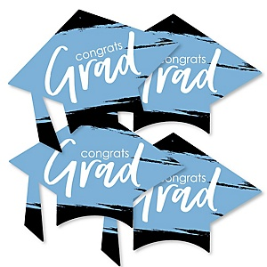 Light Blue Grad - Best is Yet to Come - Grad Cap Decorations DIY Light Blue Graduation Party Essentials - Set of 20