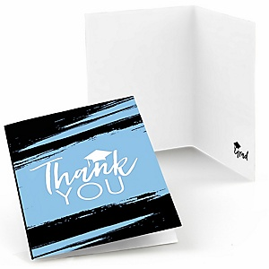Light Blue - Best is Yet to Come - Light Blue Graduation Party Thank You Cards - Set of 24