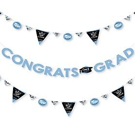 Light Blue Grad - Best is Yet to Come - 2020 Light Blue Graduation Party Letter Banner Decoration - 36 Banner Cutouts and Congrats Grad Banner Letters