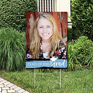 Light Blue Grad - Best is Yet to Come - Photo Yard Sign - Light Blue 2020 Graduation Party Decorations