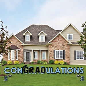 conGRADulations - Light Blue Grad - Best is Yet to Come - Yard Sign Outdoor Lawn Decorations - Light Blue 2020 Graduation Party Yard Signs