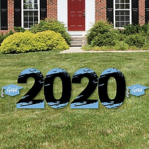 Light Blue Grad - Best is Yet to Come - 2020 Yard Sign Outdoor Lawn Decorations - Light Blue Graduation Party Yard Signs - 2020