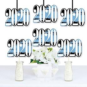 Light Blue Grad - Best is Yet to Come - 2020 Decorations DIY Light Blue Graduation Party Essentials - Set of 20
