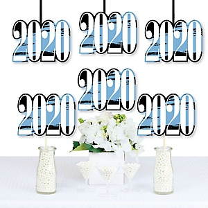 Light Blue Grad - Best is Yet to Come - 2020 Decorations DIY Light Blue Graduation Party Essentials - Set of 20