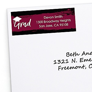 Maroon Grad - Best is Yet to Come - Personalized Graduation Return Address Labels - 30 ct