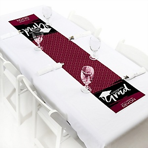 Maroon Grad - Best is Yet to Come  - Personalized Graduation Party Petite Table Runner