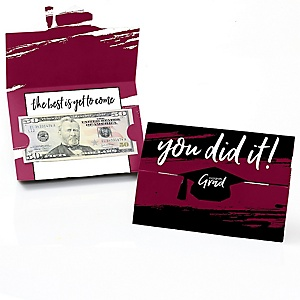 Maroon Grad - Best is Yet to Come - Graduation Money Holders - 8 ct.