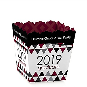 Maroon Grad - Best is Yet to Come - Party Mini Favor Boxes - Personalized 2019 Graduation Treat Candy Boxes - Set of 12