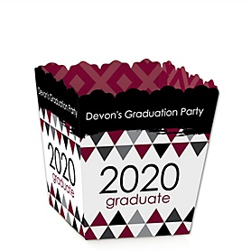 Maroon Grad - Best is Yet to Come - Party Mini Favor Boxes - Personalized 2020 Graduation Treat Candy Boxes - Set of 12