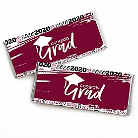 Maroon Grad - Best is Yet to Come -  2020 Candy Bar Wrappers Graduation Party Favors - Set of 24