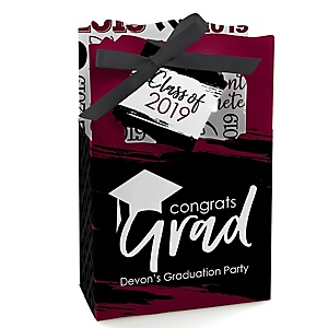 Maroon Grad - Best is Yet to Come - Personalized 2019 Graduation Favor Boxes - Set of 12