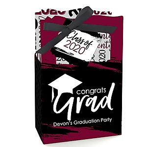 Maroon Grad - Best is Yet to Come - Personalized 2020 Graduation Favor Boxes - Set of 12