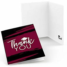 Maroon Grad - Best is Yet to Come - Graduation Party Thank You Cards - 8 ct