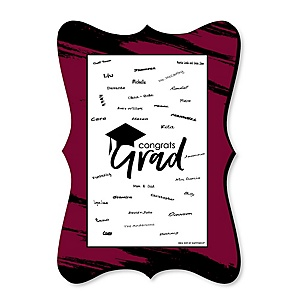 Maroon Grad - Best is Yet to Come - Unique Alternative Guest Book - Graduation Party Signature Mat