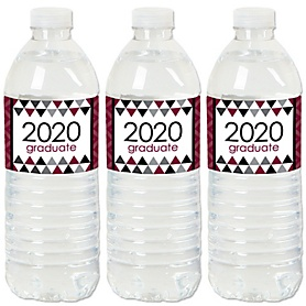 Maroon Grad - Best is Yet to Come - 2020 Maroon Graduation Party Water Bottle Sticker Labels - Set of 20