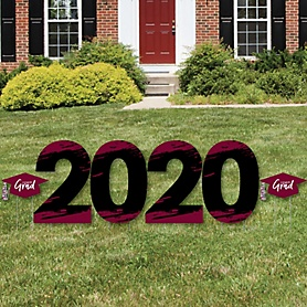 Maroon Grad - Best is Yet to Come - 2020 Yard Sign Outdoor Lawn Decorations - Maroon Graduation Party Yard Signs - 2020