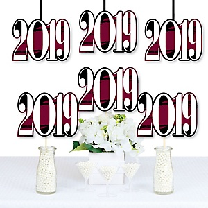 Maroon Grad - Best is Yet to Come - 2019 Decorations DIY Maroon Graduation Party Essentials - Set of 20