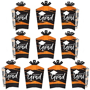 Orange Grad - Best is Yet to Come - Table Decorations - 2020 Orange Graduation Party Fold and Flare Centerpieces - 10 Count