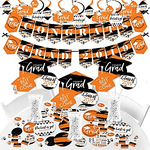 Orange Grad - Best is Yet to Come - 2019 Orange Graduation Party Supplies - Banner Decoration Kit - Fundle Bundle
