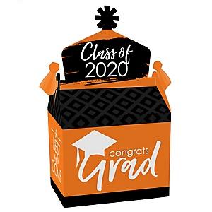 Orange Grad - Best is Yet to Come - Treat Box Party Favors - 2020 Orange Graduation Party Goodie Gable Boxes - Set of 12