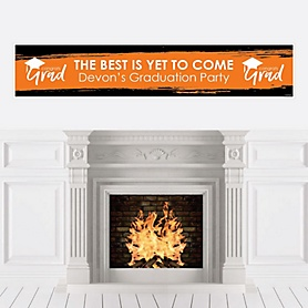 Orange Grad - Best is Yet to Come - Personalized Orange Graduation Party Banner