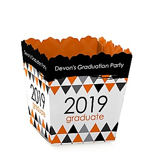 Orange Grad - Best is Yet to Come - Party Mini Favor Boxes - Personalized 2019 Graduation Treat Candy Boxes - Set of 12
