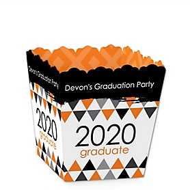 Orange Grad - Best is Yet to Come - Party Mini Favor Boxes - Personalized 2020 Graduation Treat Candy Boxes - Set of 12