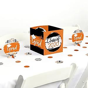 Orange Grad - Best is Yet to Come - 2020 Graduation Party Centerpiece & Table Decoration Kit