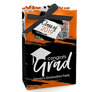 Orange Grad - Best is Yet to Come - Personalized 2019 Graduation Favor Boxes - Set of 12