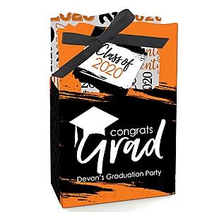 Orange Grad - Best is Yet to Come - Personalized 2020 Graduation Favor Boxes - Set of 12