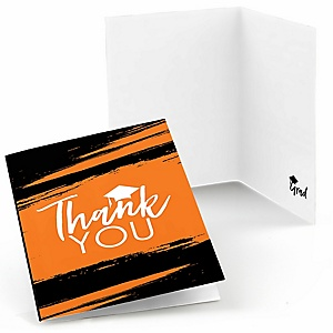 Orange Grad - Best is Yet to Come - Graduation Party Thank You Cards - 8 ct