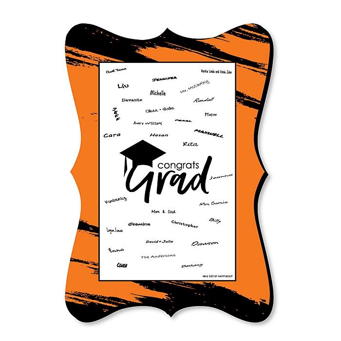 Orange Grad - Best is Yet to Come - Unique Alternative Guest Book - Graduation Party Signature Mat