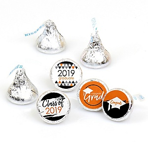 Orange Grad - Best is Yet to Come - Round Candy Labels 2019 Graduation Party Favors - Fits Hershey's Kisses 108 ct