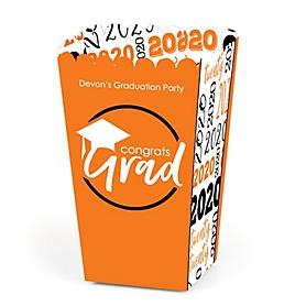 Orange Grad - Best is Yet to Come - Personalized 2020 Graduation Popcorn Favor Treat Boxes - Set of 12