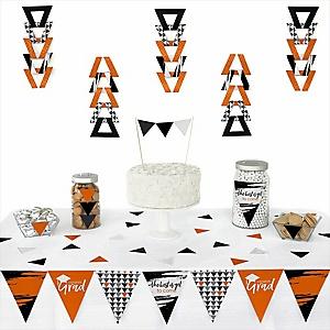 Orange Grad - Best is Yet to Come -  Triangle Graduation Party Decoration Kit - 72 Piece