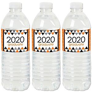 Orange Grad - Best is Yet to Come - 2020 Orange Graduation Party Water Bottle Sticker Labels - Set of 20