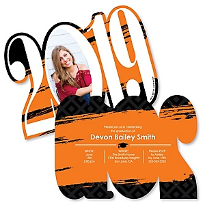 Orange Grad - Best is Yet to Come - Personalized 2019 Photo Graduation Announcement - Set of 12