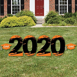 Orange Grad - Best is Yet to Come - 2020 Yard Sign Outdoor Lawn Decorations - Orange Graduation Party Yard Signs - 2020