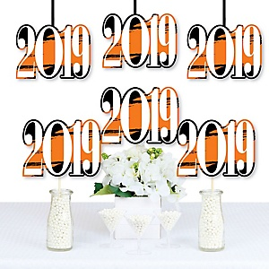 Orange Grad - Best is Yet to Come - 2019 Decorations DIY Orange Graduation Party Essentials - Set of 20