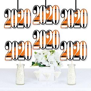 Orange Grad - Best is Yet to Come - 2020 Decorations DIY Orange Graduation Party Essentials - Set of 20