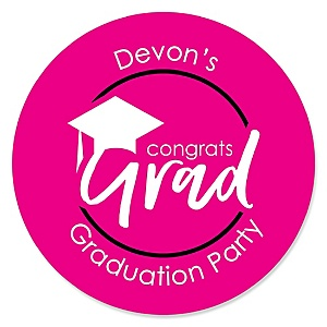 Pink Grad - Best is Yet to Come - Personalized Graduation Sticker Labels - 24 ct