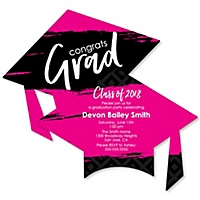 Graduation invitations bigdotofhappiness pink grad best is yet to come personalized 2018 graduation invitations filmwisefo