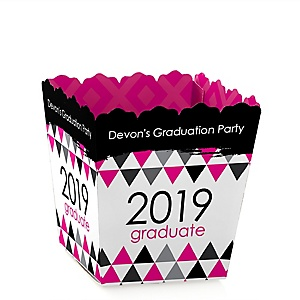Pink Grad - Best is Yet to Come - Party Mini Favor Boxes - Personalized 2019 Graduation Treat Candy Boxes - Set of 12