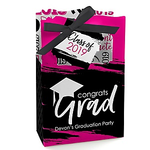 Pink Grad - Best is Yet to Come - Personalized 2019 Graduation Favor Boxes - Set of 12