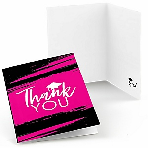Pink Grad - Best is Yet to Come - Graduation Party Thank You Cards - 8 ct