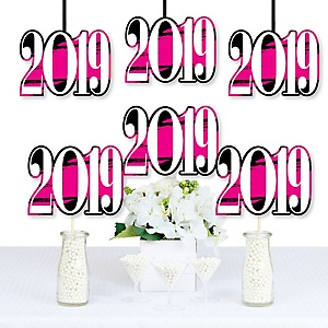Pink Grad - Best is Yet to Come - 2019 Decorations DIY Pink Graduation Party Essentials - Set of 20