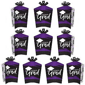 Purple Grad - Best is Yet to Come - Table Decorations - 2020 Purple Graduation Party Fold and Flare Centerpieces - 10 Count