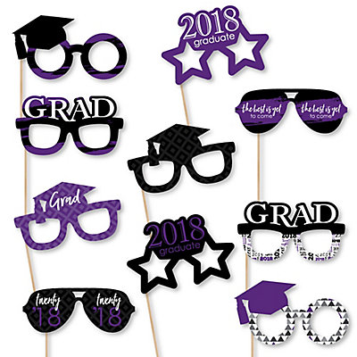 purple grad glasses best is yet to come purple 2018 paper card